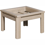 Stratford Outdoor Deep Seating Small Ottoman Frame, Beige