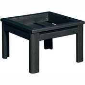 Stratford Outdoor Deep Seating Small Ottoman Frame, Black