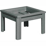 Stratford Outdoor Deep Seating Small Ottoman Frame, Slate Gray