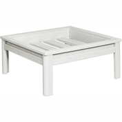 Stratford Outdoor Deep Seating Large Ottoman Frame, White