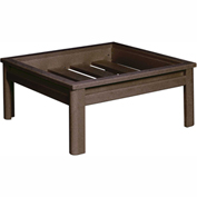 Stratford Outdoor Deep Seating Large Ottoman Frame, Chocolate