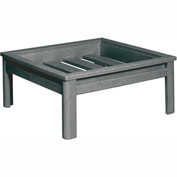 Stratford Outdoor Deep Seating Large Ottoman Frame, Slate Gray