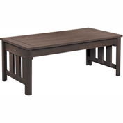 Stratford Outdoor Coffee Table, Chocolate