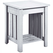 Stratford Outdoor End Table, White