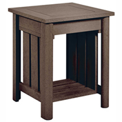 Stratford Outdoor End Table, Chocolate