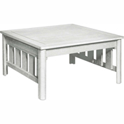 Stratford Outdoor Square Cocktail Table, White