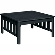 Stratford Outdoor Square Cocktail Table, Black