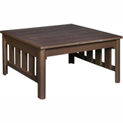 Stratford Outdoor Square Cocktail Table, Chocolate