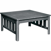 Stratford Outdoor Square Cocktail Table, Slate Gray
