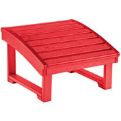 "Generations Upright Adirondack Chair Pull Out Footstool, Red, 32""L x 22""W x 14""H"