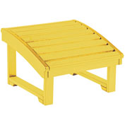 "Generations Upright Adirondack Chair Pull Out Footstool, Yellow, 32""L x 22""W x 14""H"