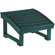 "Generations Upright Adirondack Chair Pull Out Footstool, Green, 32""L x 22""W x 14""H"