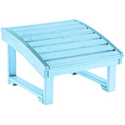 "Generations Upright Adirondack Chair Pull Out Footstool, Aqua, 32""L x 22""W x 14""H"
