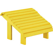 "Generations Premium Footstool, Yellow, 18""L x 18""W x 16""H"