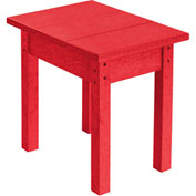 "Generations Small Side Table, Red, 17""L x 17""W x 17""H"