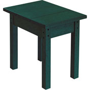 "Generations Small Side Table, Green, 17""L x 17""W x 17""H"