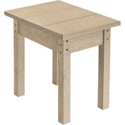 "Generations Small Side Table, Beige, 17""L x 17""W x 17""H"