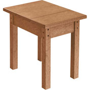 "Generations Small Side Table, Cedar, 17""L x 17""W x 17""H"