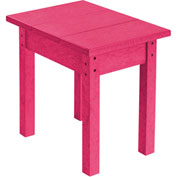 "Generations Small Side Table, Fuchsia, 17""L x 17""W x 17""H"