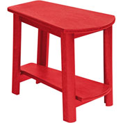 "Generations Tapered Style Accent Table, Red, 29""L x 18-1/2""W x 19""H"