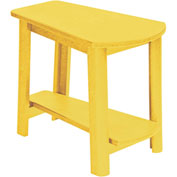 "Generations Tapered Style Accent Table, Yellow, 29""L x 18-1/2""W x 19""H"