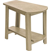 """Generations Tapered Style Accent Table, Beige, 29""""L x 18-1/2""""W x 19""""H"""