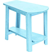 "Generations Tapered Style Accent Table, Aqua, 29""L x 18-1/2""W x 19""H"