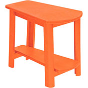"Generations Tapered Style Accent Table, Orange, 29""L x 18-1/2""W x 19""H"