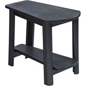 "Generations Tapered Style Accent Table, Black, 29""L x 18-1/2""W x 19""H"