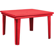 "Generations 46"" Square Dining Table, Red, 47""L x 47""W x 31""H"