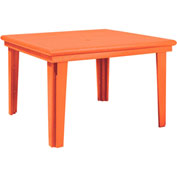 "Generations 46"" Square Dining Table, Orange, 47""L x 47""W x 31""H"