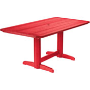 "Generations Double Pedestal Dining Table w/Base, Red, 72""L x 36""W x 31""H"