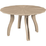 """Generations 52"""" Scalloped Round Dining Table w/Base, Beige, 47""""L x 47""""W x 31""""H"""