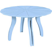 "Generations 52"" Scalloped Round Dining Table w/Base, Sky Blue, 47""L x 47""W x 31""H"