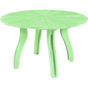 "Generations 52"" Scalloped Round Dining Table w/Base, Lime Green, 47""L x 47""W x 31""H"