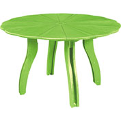 "Generations 52"" Scalloped Round Dining Table w/ Base, Kiwi Green, 47""L x 47""W x 31""H"