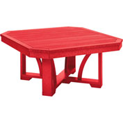 "St Tropez 35"" Square Cocktail Table, Red, 35""L x 35""W x 17""H"
