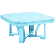 "St Tropez 35"" Square Cocktail Table, Aqua, 35""L x 35""W x 17""H"