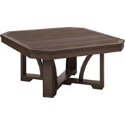 "St Tropez 35"" Square Cocktail Table, Chocolate, 35""L x 35""W x 17""H"