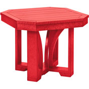 "St Tropez 25"" Square End Table, Red, 24-1/2""L x 24-1/2""W x 20""H"