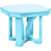 "St Tropez 25"" Square End Table, Aqua, 24-1/2""L x 24-1/2""W x 20""H"