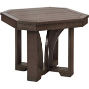 "St Tropez 25"" Square End Table, Chocolate, 24-1/2""L x 24-1/2""W x 20""H"
