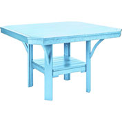 "St Tropez 45"" Square Dining Table, Aqua, 45""L x 45""W x 30""H"