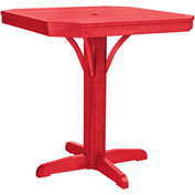 "St Tropez 35"" Square Counter Table, Red, 35""L x 35""W x 36""H"
