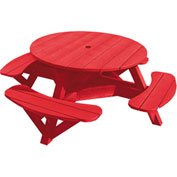 "Generations 51"" Round Picnic Table - Color Frame, Red"