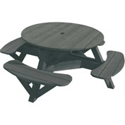 "Generations 51"" Round Picnic Table - Color Frame, Slate"