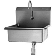 SANI-LAV 5041 Wall Mount Sink With Single Knee Pedal Valve