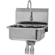 SANI-LAV 505L Wall Mount Sink With Double Knee Pedal Valve