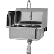SANI-LAV 5071 Wall Mount Sink With Single Knee Pedal Valve And Side Splash Guards