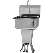 SANI-LAV 521L Floor Mount Sink With Double Foot Pedal Valve